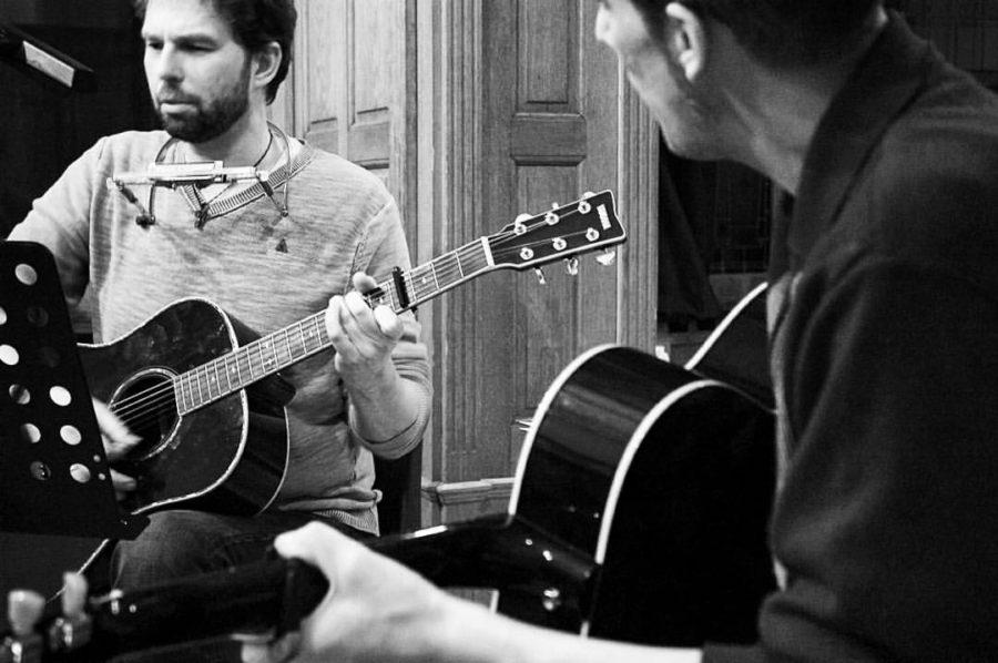 Singer-songwriters Mike en Gerhardt