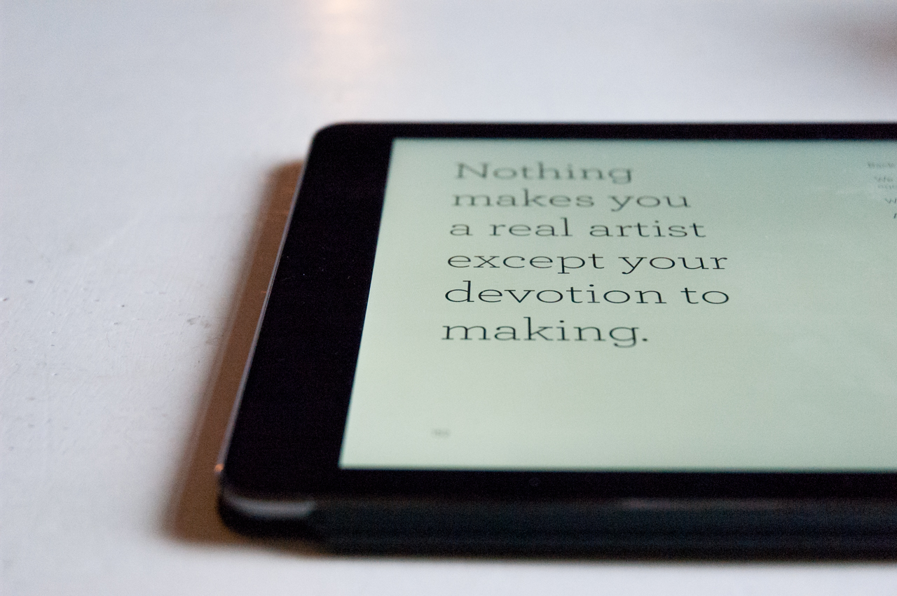 Devotion to making