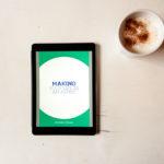 Ebook en koffie van boven